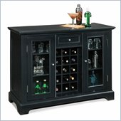 Home Styles Bedford Home Bar Cabinet in Ebony