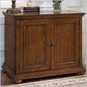 Home Styles Homestead Compact Office Cabinet in Distressed Warm Oak Finish