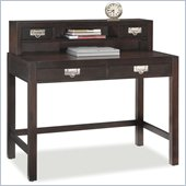 Home Styles City Chic Student Desk & Hutch Combo in Espresso