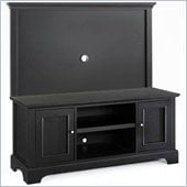 Home Styles Furniture Bedford Wood TV Stand with Back Panel in Ebony