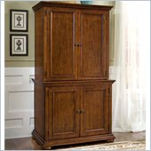 Home Styles Furniture Homestead Cabinet with Hutch in Distressed Warm Oak