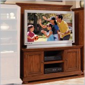Home Styles Furniture Homestead Wood TV Stand with Back Panel in Distressed Oak Finish