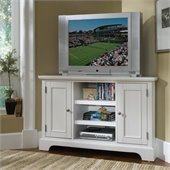 Home Styles Naples Corner TV Stand in White