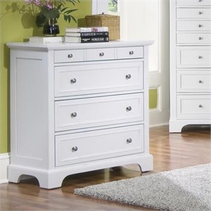 Home Styles Naples 4 Drawer Chest in Off White