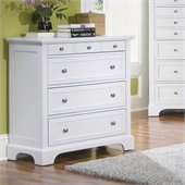 Home Styles Naples 4 Drawer Chest in White Finish
