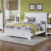 Home Styles Naples Queen Panel Bed in White Finish