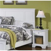 Home Styles Naples Queen Panel Headboard 2 Piece Bedroom Set in White Finish