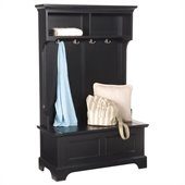 Home Styles Bedford Hall Tree in Black Finish