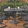 ADD TO YOUR SET: Home Styles Round Outdoor Dining Table in Black Finish