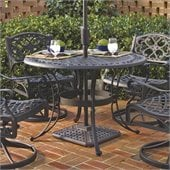 Home Styles Round Outdoor Dining Table in Black Finish