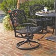 ADD TO YOUR SET: Home Styles Outdoor Swivel Dining Arm Chair in Black Finish