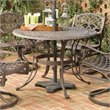 ADD TO YOUR SET: Home Styles Round Outdoor Dining Table in Rust Brown Finish