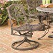 ADD TO YOUR SET: Home Styles Outdoor Swivel Dining Arm Chair in Rust Brown Finish