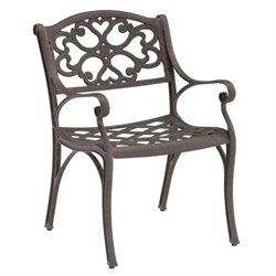 Home Styles Biscayne Outdoor Dining Arm Chair in Rust Brown Finish (Set of 2)