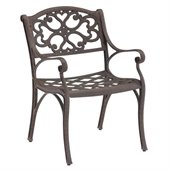 Home Styles Outdoor Dining Arm Chair in Rust Brown Finish (Set of 2)