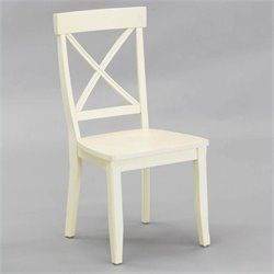 Home Styles Furniture Dining Chair in Antique White Finish (Set of 2)