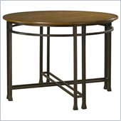 Home Styles Oak Hill Round Casual Dining Table in Oak Finish