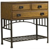 Home Styles Oak Hill Wood Top Buffet Server in Oak Finish