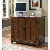 Home Styles Arts & Crafts Compact Computer Cabinet in Cottage Oak