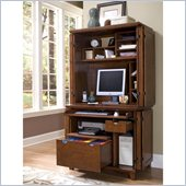 Home Styles Arts & Crafts Compact Desk and Hutch Cottage Oak Finish