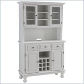 Home Styles Premier Wood Top Buffet Server with 2 door Hutch in White
