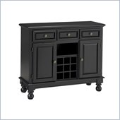 Home Styles Premier Wood Top Buffet server in Black