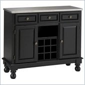 Home Styles Premier Steel Top Buffet Server in Black