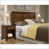 Home Styles Paris Queen Headboard & Night Stand in Mahogany