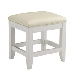 Home Styles Naples Vanity Bench in White Finish