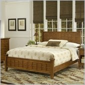 Home Styles Arts & Crafts Queen Bed in Cottage Oak Finish