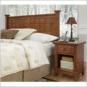 Home Styles Arts & Crafts Headboard & Night Stand in Cottage Oak