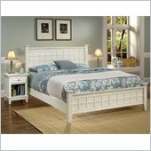 Home Styles Arts & Crafts Queen Bed and Night Stand in White Finish