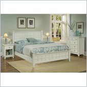 Home Styles Arts & Crafts Queen 3 Piece Bed Set in White