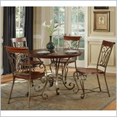 Home Styles St. Ives Round Dining Table in Cinnamon