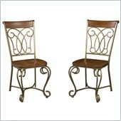Home Styles St. Ives Dining Chairs in Cinnamon (Set of 2)