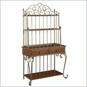 Home Styles St. Ives Bakers Rack in Cinnamon