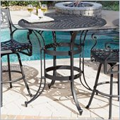 Home Styles Biscayne High Top Bistro Table in Black Finish