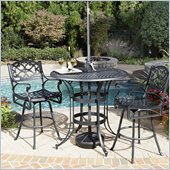 Home Styles Biscayne 3 Piece Bistro Set in Black Finish