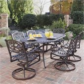 Home Styles Biscayne 7 Piece Dining Set in Rust Finish