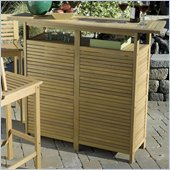 Home Styles Bali Hai Bar Cabinet in Natural