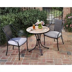 Home Styles Terra Cotta Bistro Table & 2 Laguna Chairs in Terra Cotta