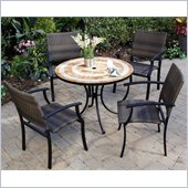 Home Styles Terra Cotta Bistro Table & 2 Newport Chairs in Terra Cotta