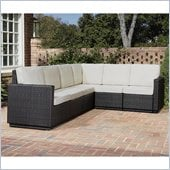 Home Styles Riviera Six Seat L Shape Sectional in Stone