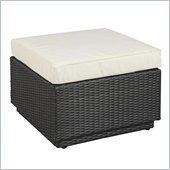 Home Styles Riviera Ottoman with Cushion in Stone