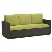 Home Styles Riviera Three Seat Sofa in Green Apple