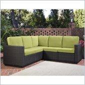 Home Styles Riviera Five Seat L Sofa in Green Apple