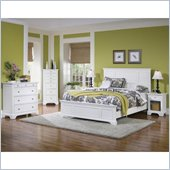 Home Styles Naples Queen Panel Bed 3 Piece Bedroom Set in White