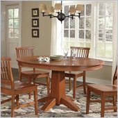 Home Styles Arts & Crafts Round/Oval Dining Table in Cottage Oak