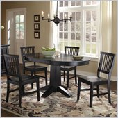 Home Styles Arts & Crafts 5 Piece Dining Set in Black Finish