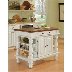 Home Styles Americana Kitchen Island in White